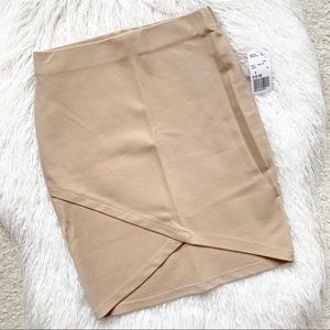 Taupe Forever 21 Pencil Skirt